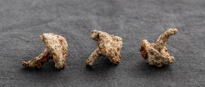 Clous de sandales de légionnaires retrouvés sur le site de Gergovie