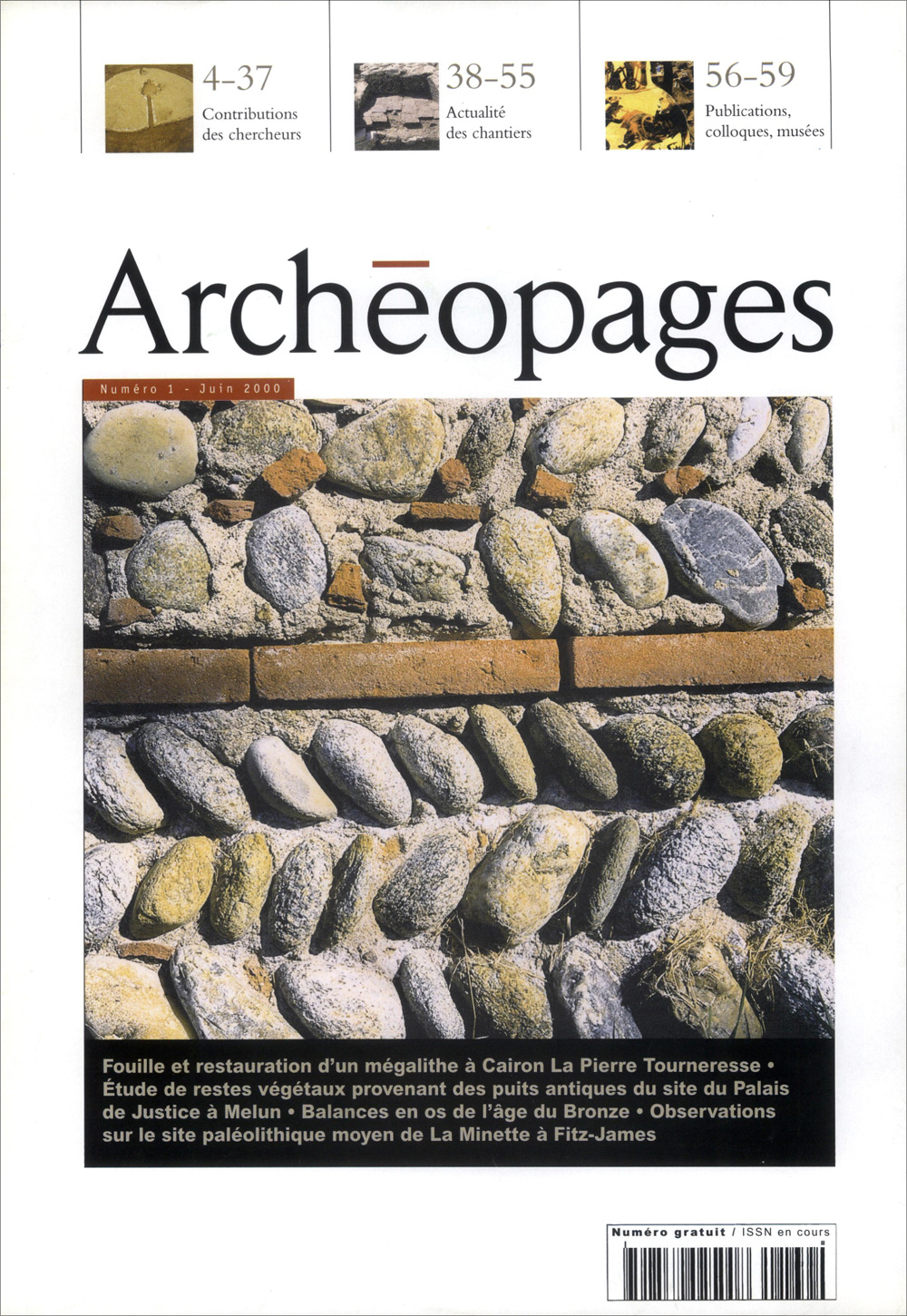 Couverture Archéopages 01