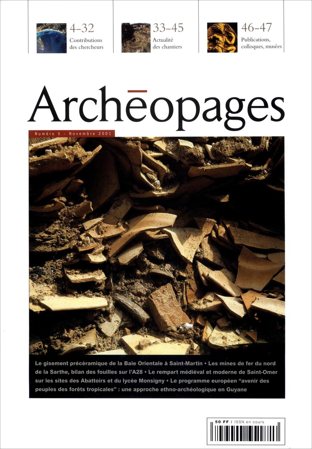Couverture Archéopages 05