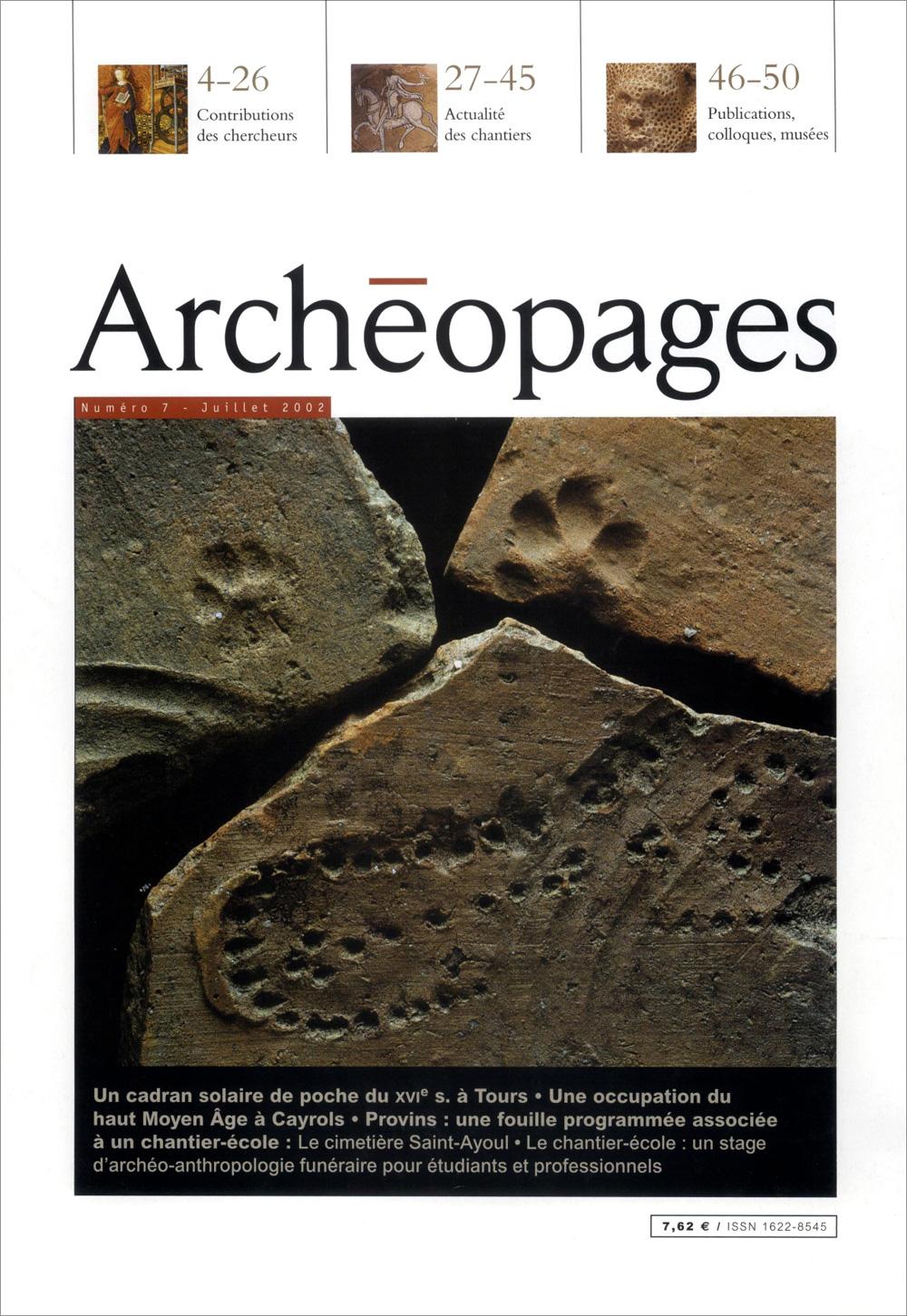 Couverture Archéopages 07