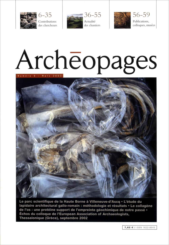 Couverture Archéopages 09