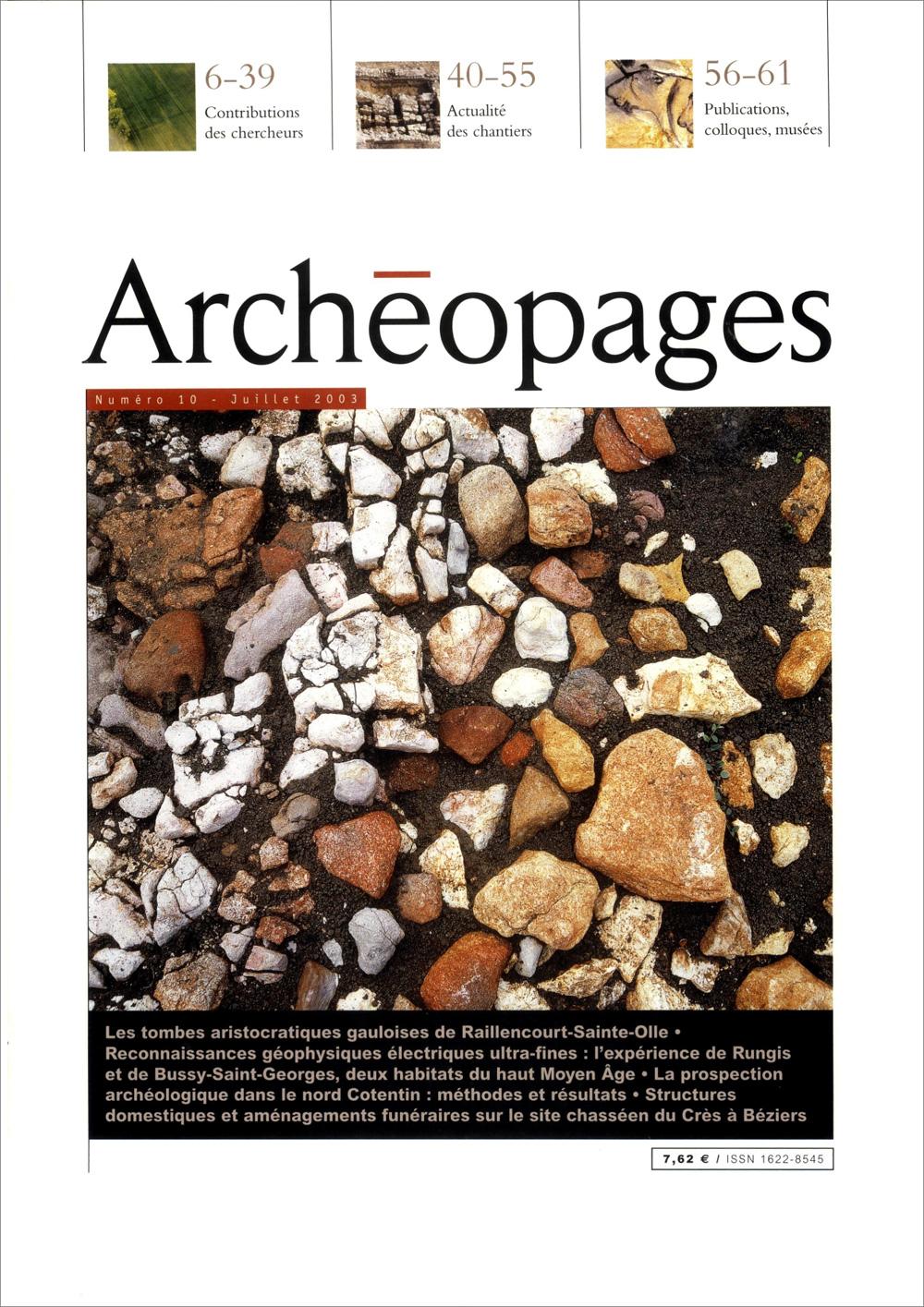Couverture Archéopages 10