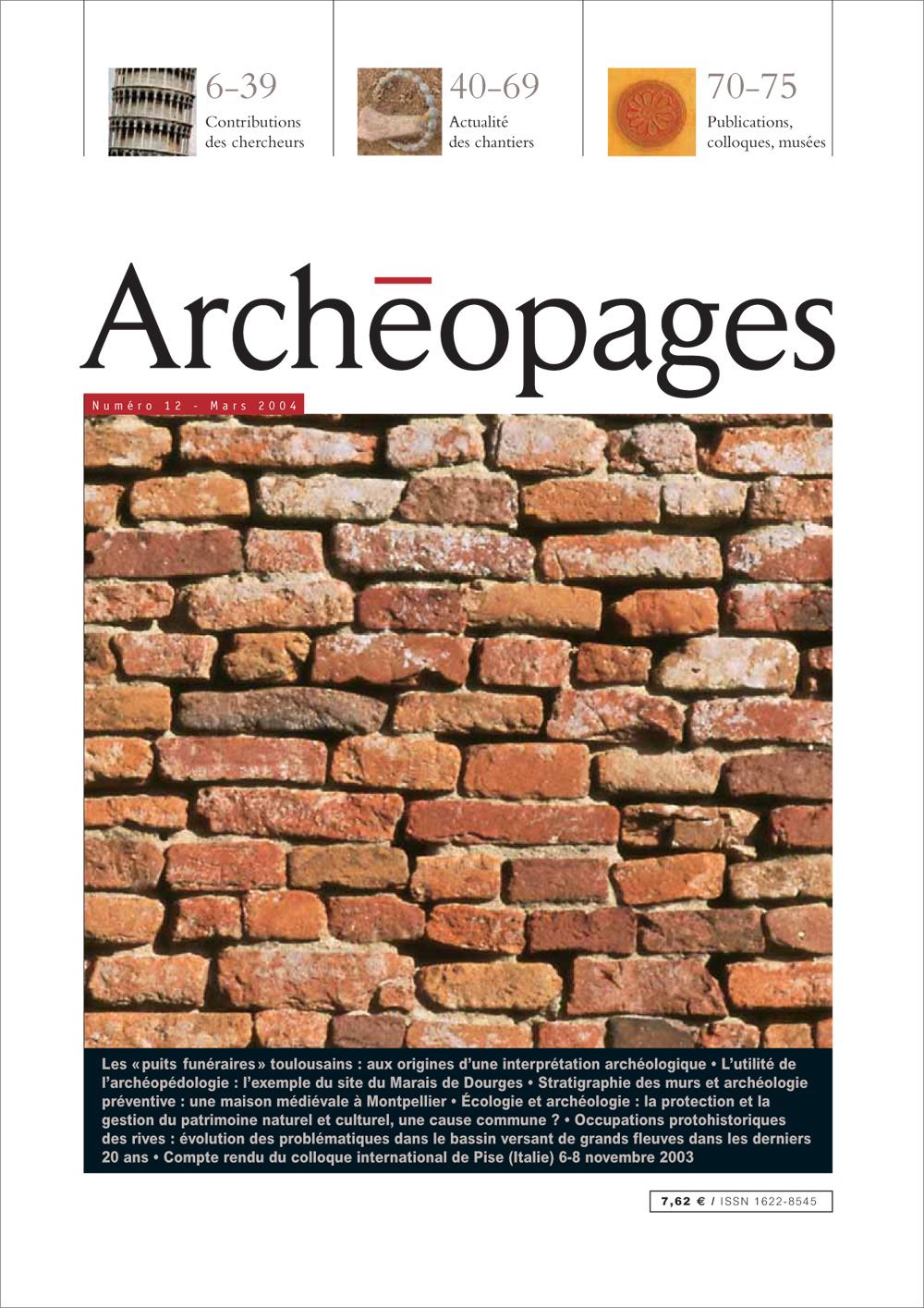 Couverture Archéopages 12