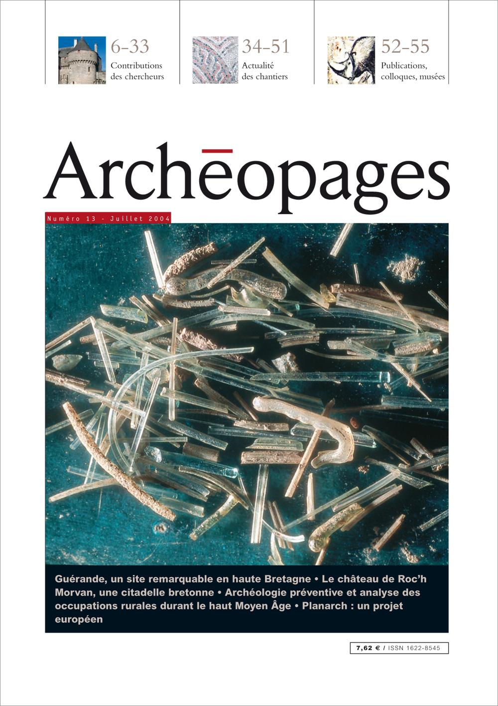 Couverture Archéopages 13