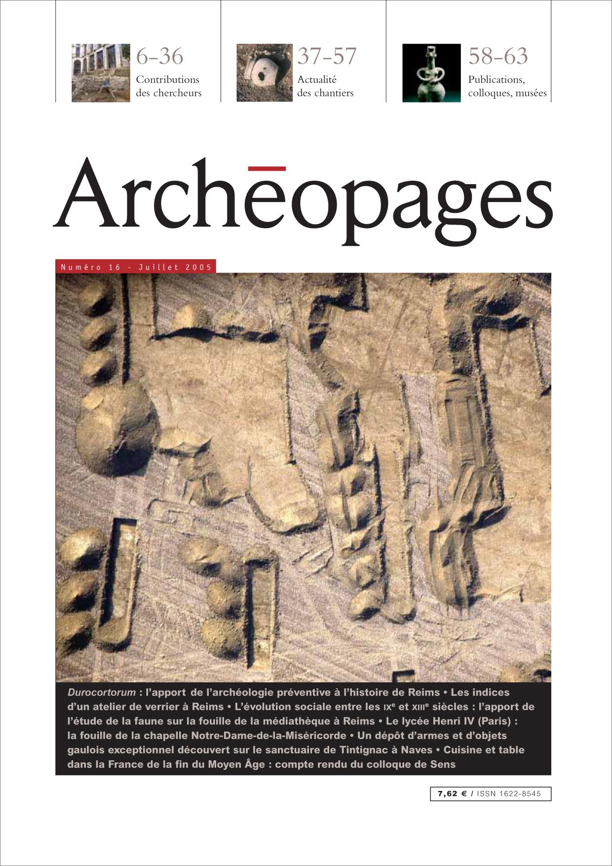 Couverture Archéopages 16