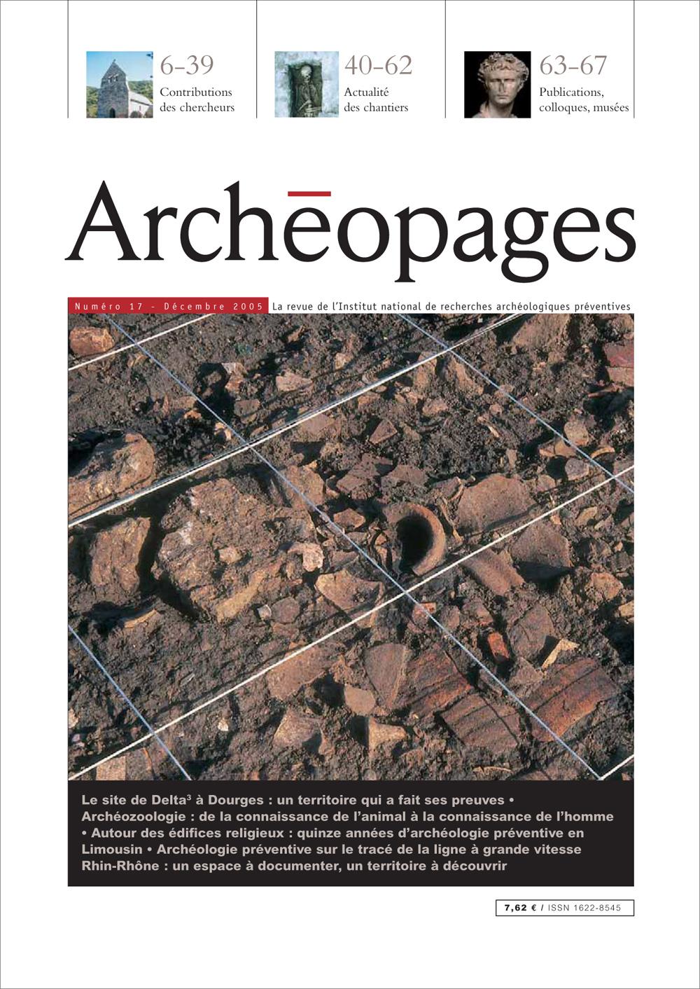 Couverture Archéopages 17