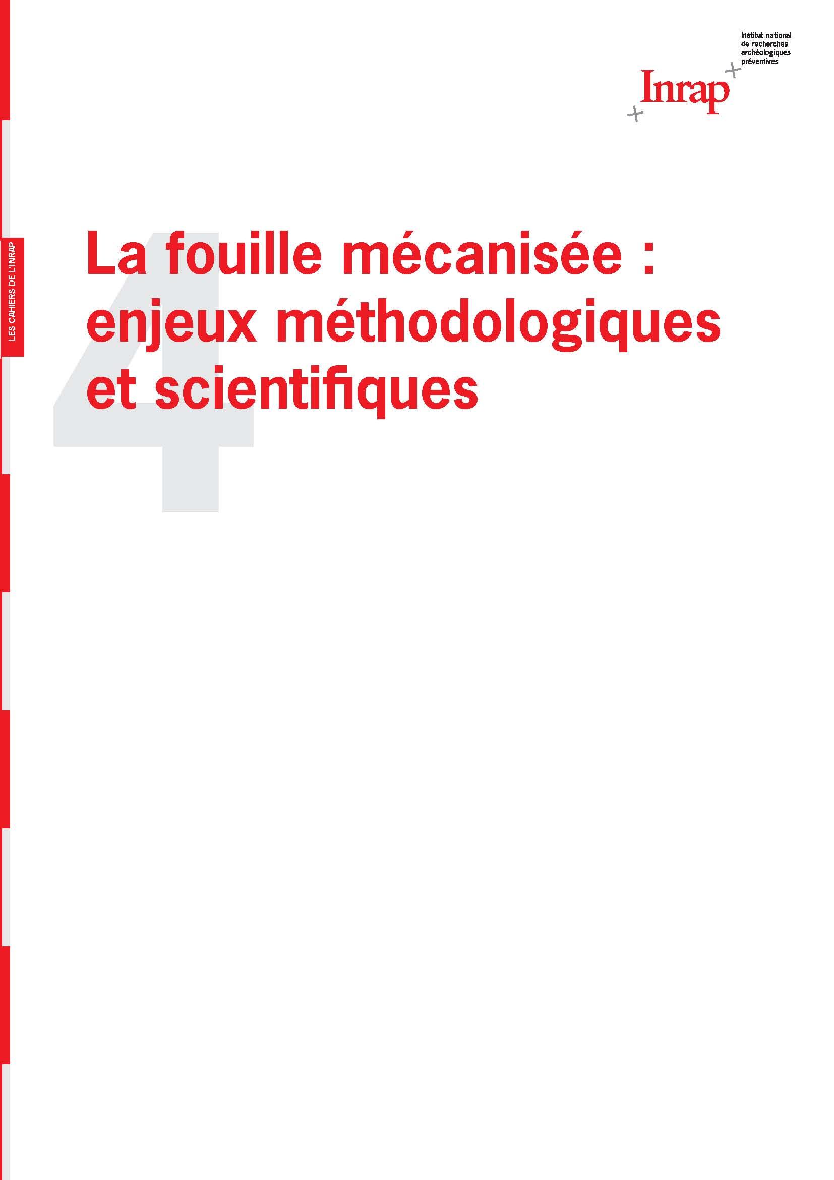 Cahiers de l'Inrap 4