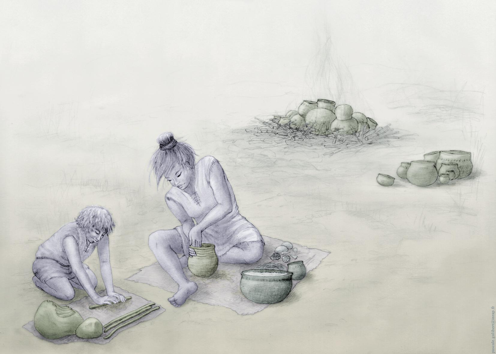 Dessin de personnes du néolithique