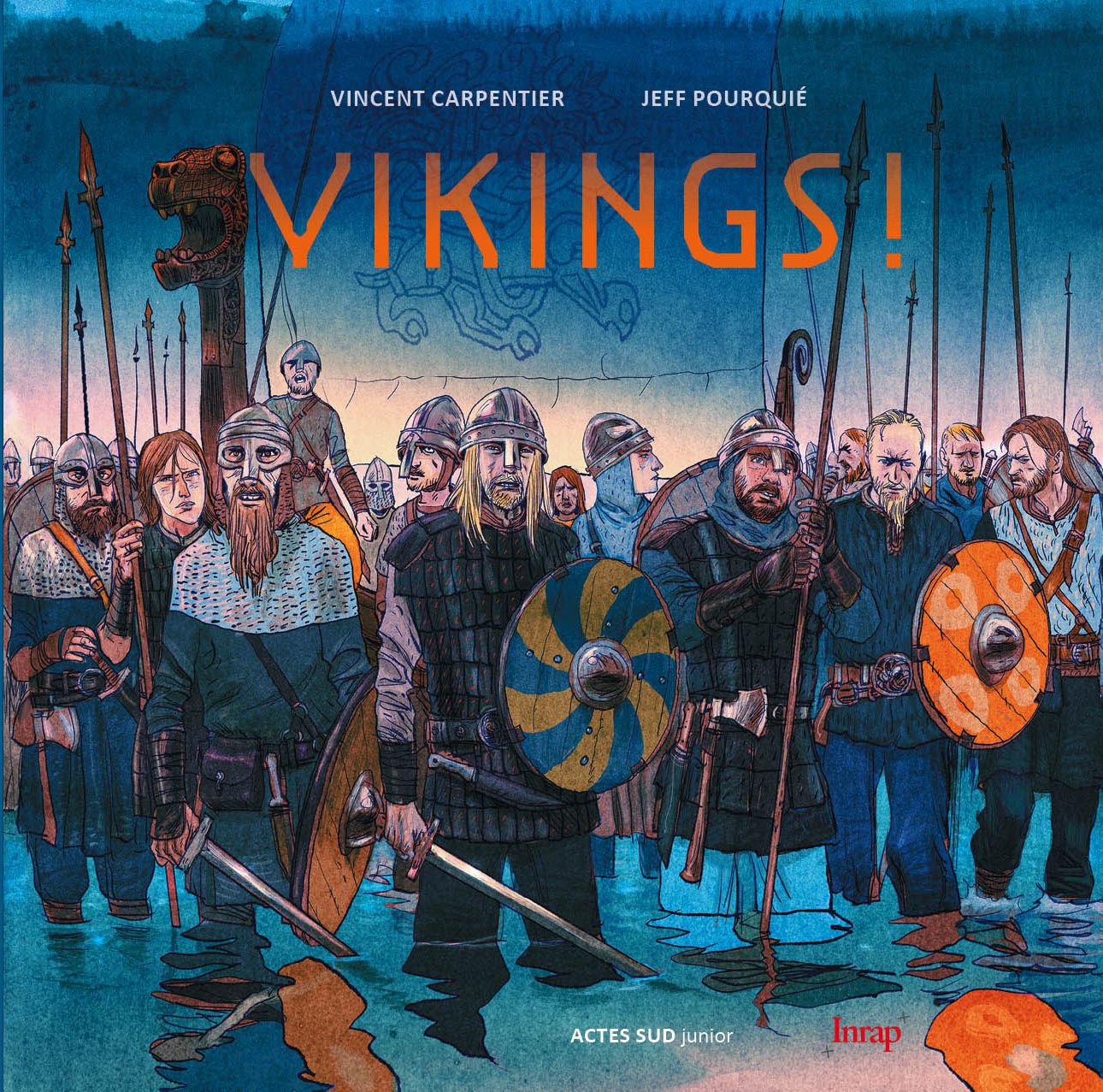 "Couverture ""Vikings !"", Actes Sud Junior - Inrap, 2016"