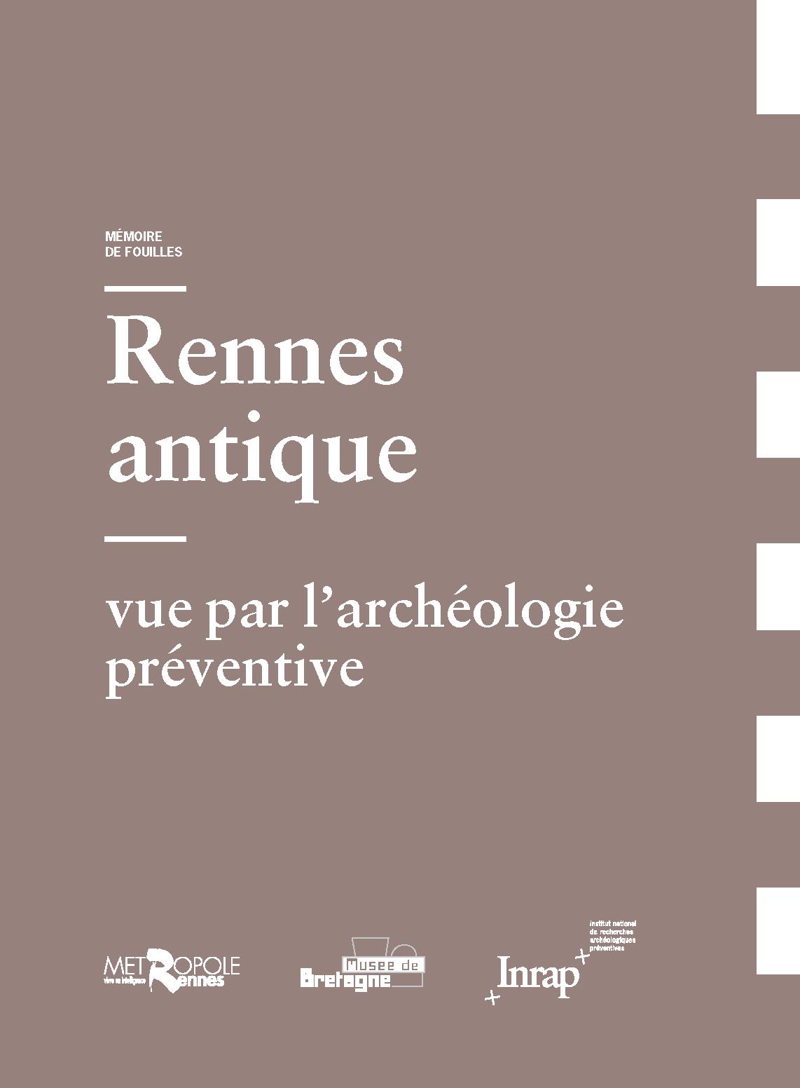 Couverture Mémoire de fouilles Rennes