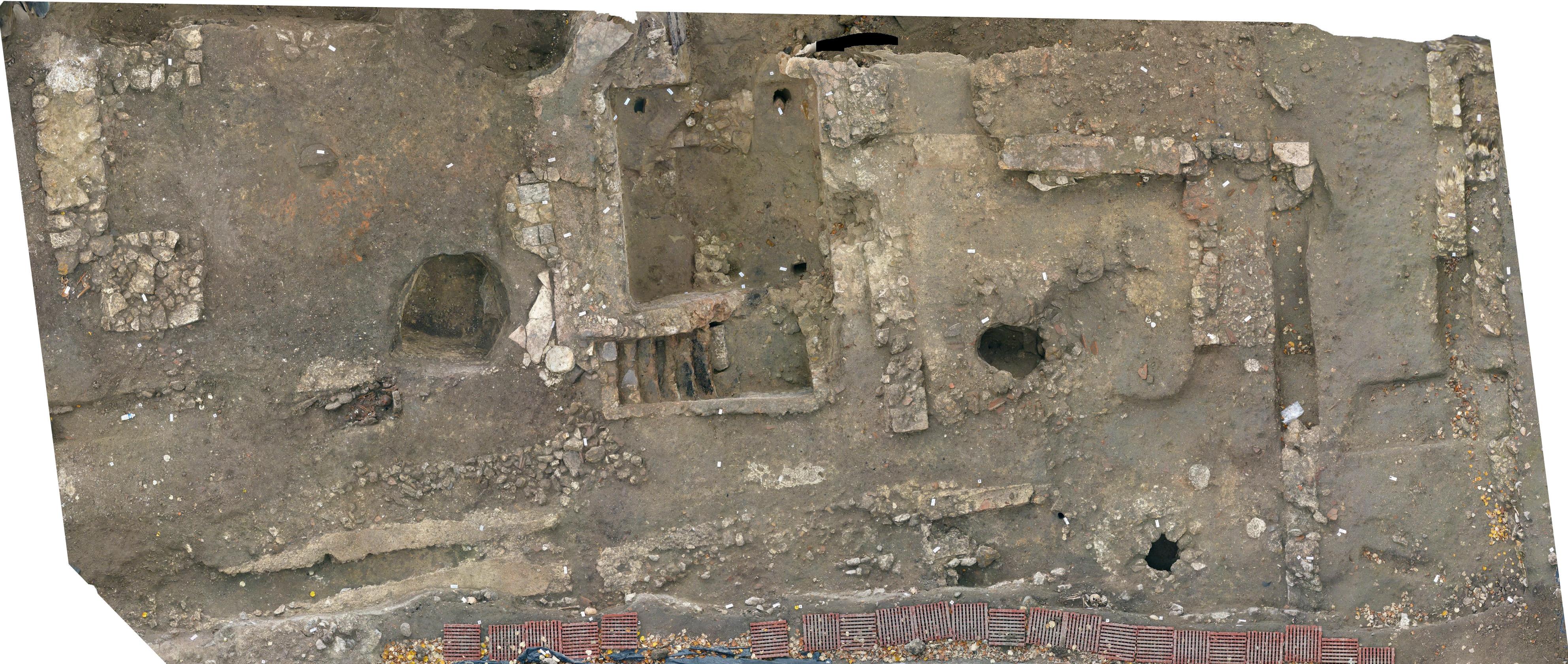 Fig.09. Vue en plan d'une large zone d'habitat à Meaux.