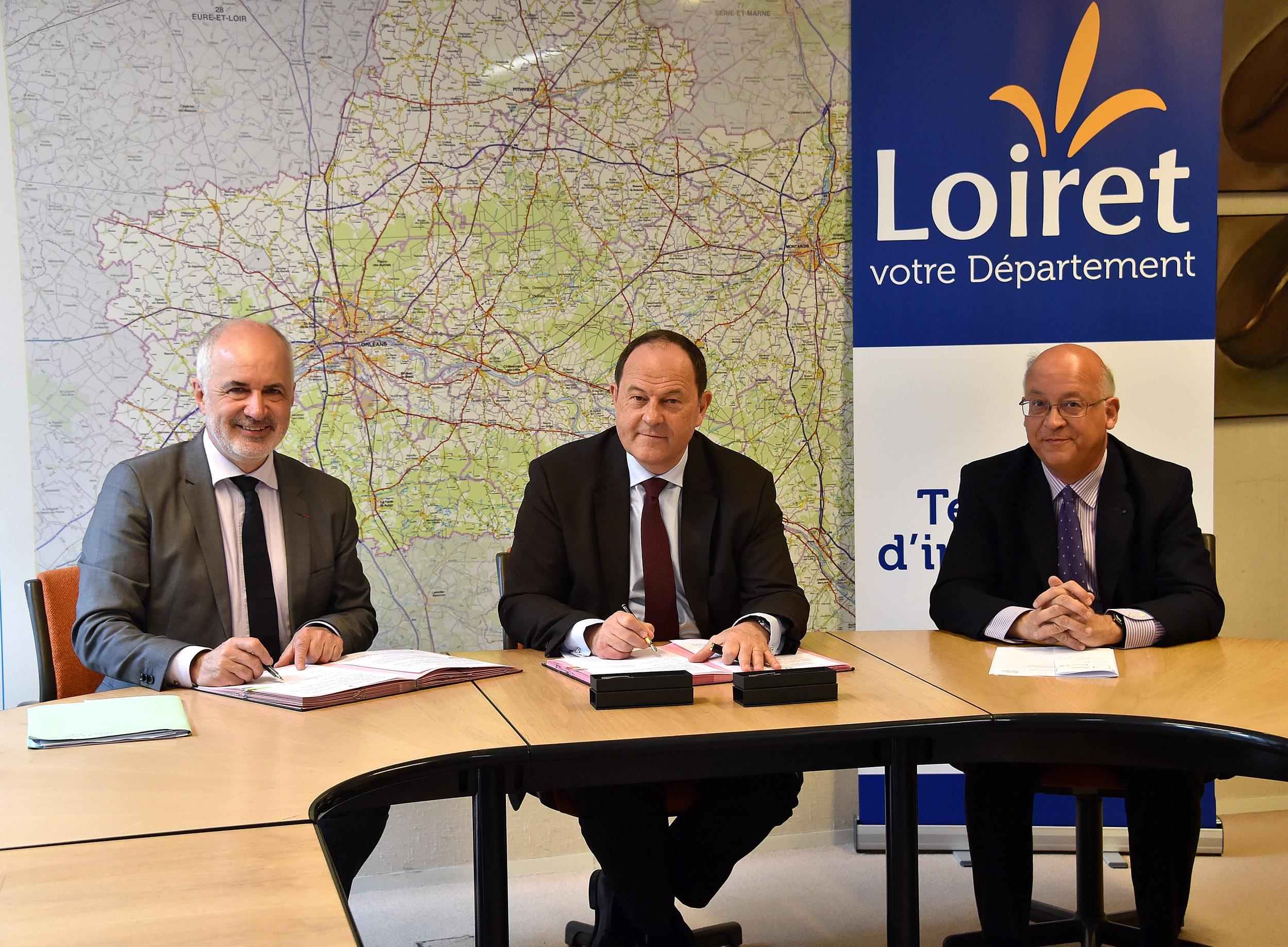 l'Inrap et le Département du Loiret réaffirment leurs objectifs communs