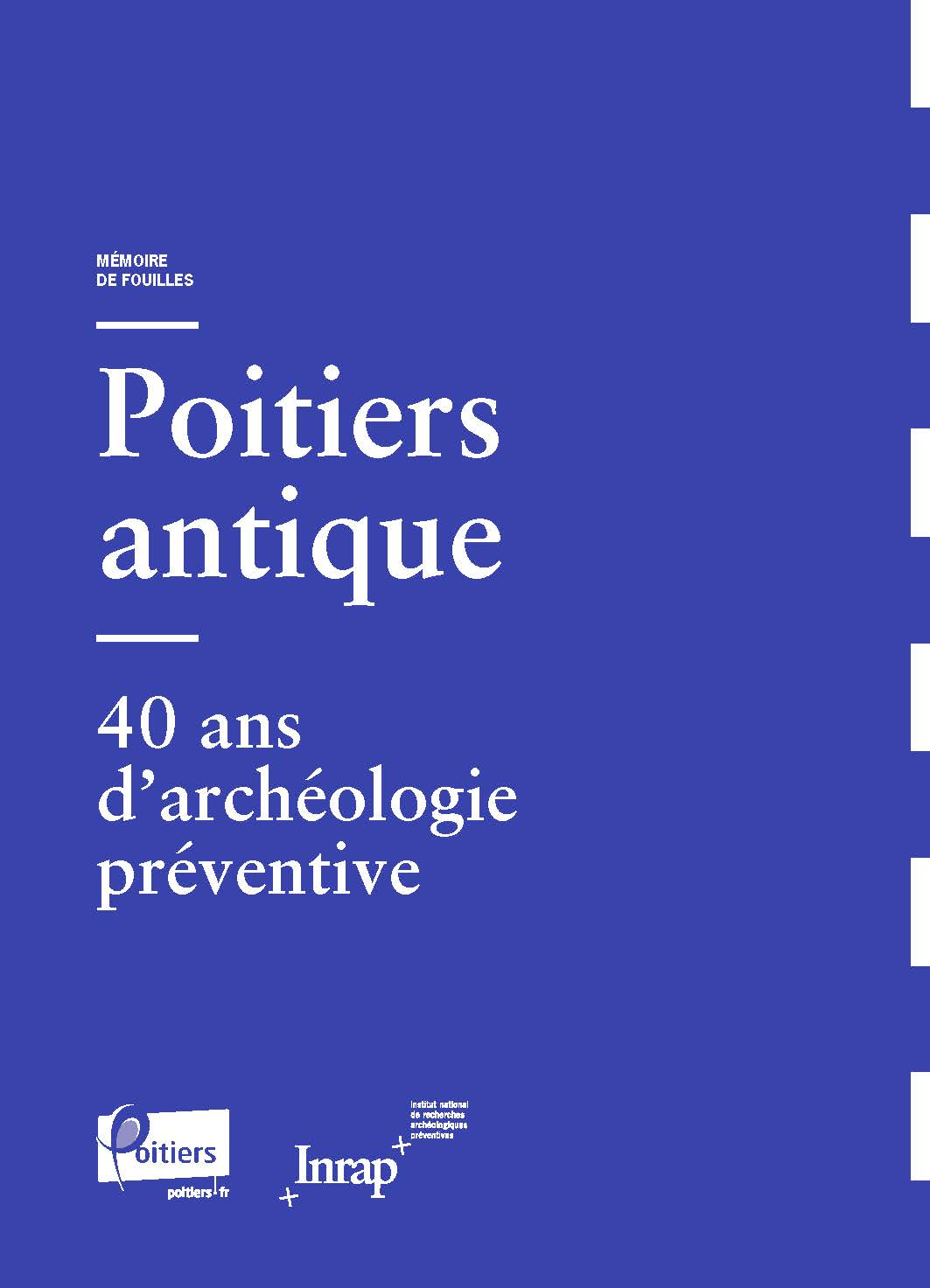Mémoire de fouilles : Poitiers antique (couverture)