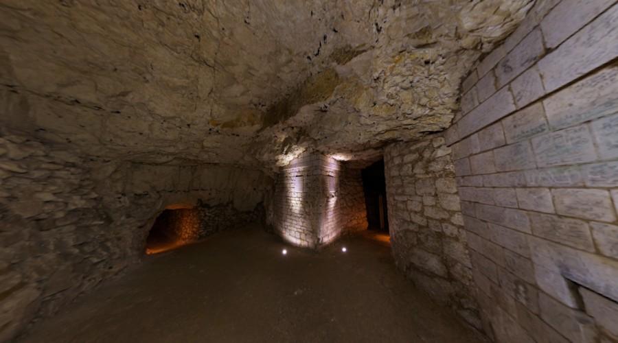 Vues 360° des souterrains de Naours (Somme)