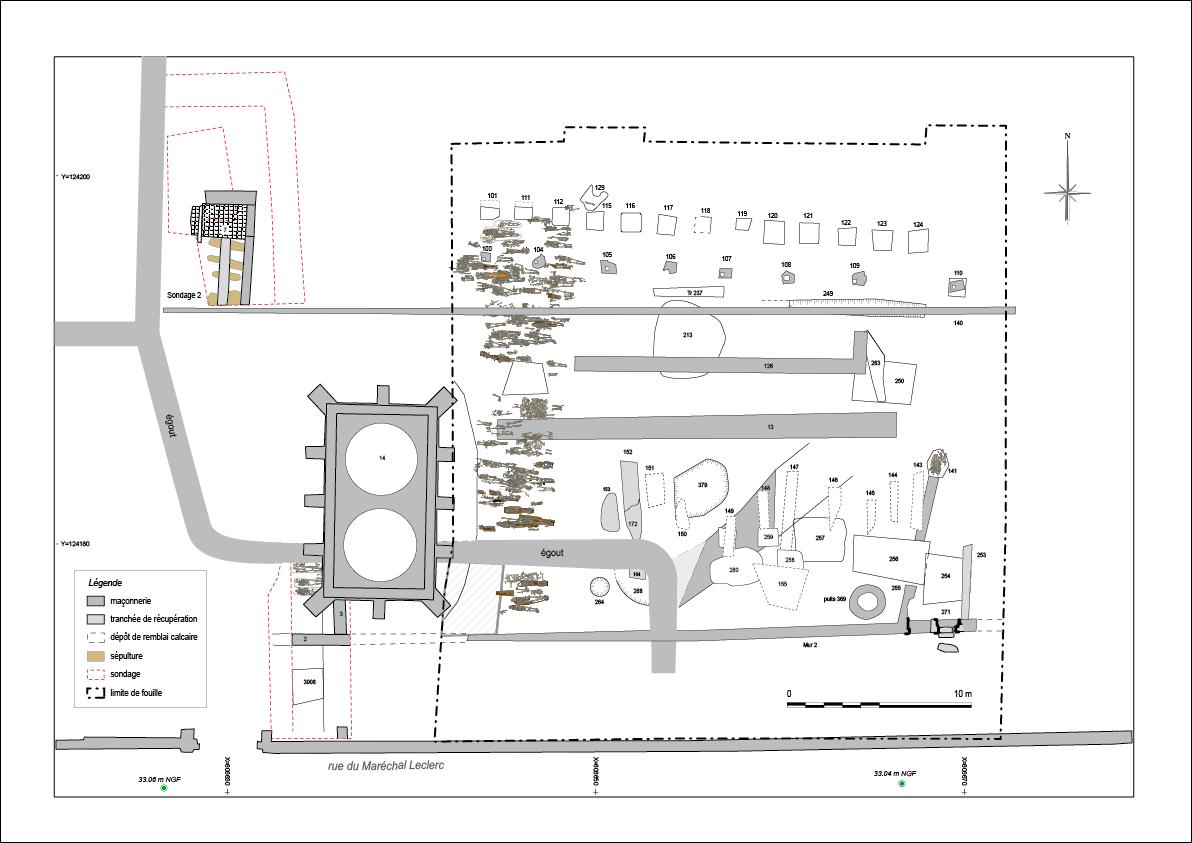 Plan général de la fouille de Saint-Maurice